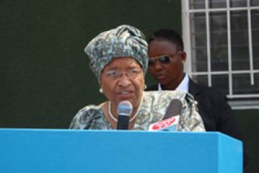 President Sirleaf Graces LMTI Flag Hoisting Ceremony: Urges Cadets to be Shining Examples